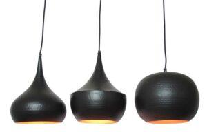 Industriële hanglamp Miem zwart-0