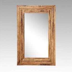 Spiegel oud teakhout