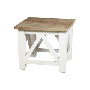 Teak salontafel oud wit