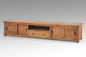 Teak houten tv kast 250 cm
