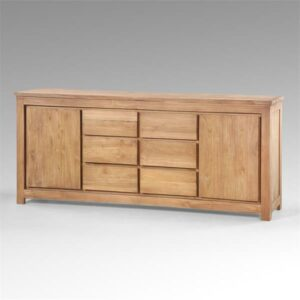 Teakhouten dressoir 220 breed