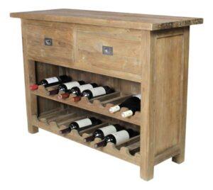 Sidetable met wijnrek-0