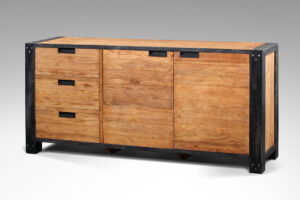 teak dressoir industrieel