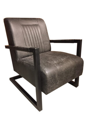 Fauteuil Frank microleder antraciet