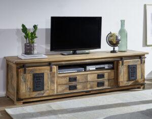 tv kast industrieel met schuifdeuren