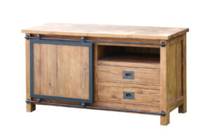Teak tv meubel industrieel 110